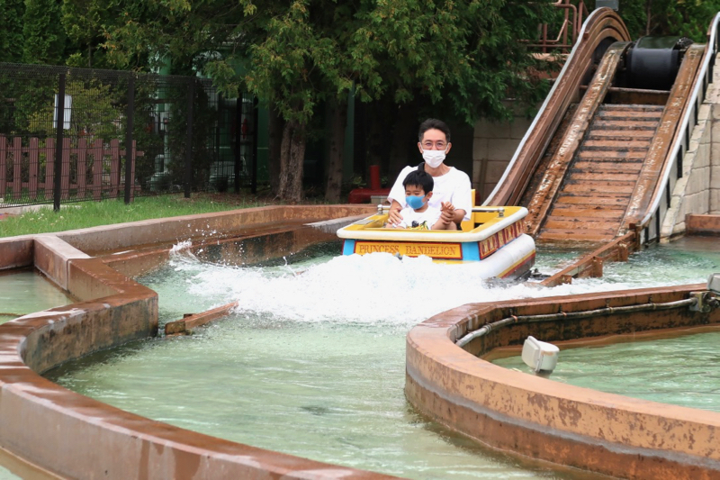 帶小孩玩河口湖,湯瑪士樂園,賞富士山,體驗超可愛的西瓜飯店