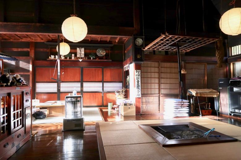 日本只見町圍爐裡古民家